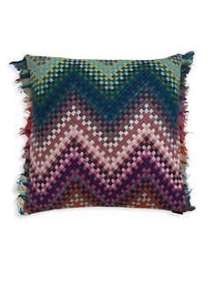 Missoni Home - Patterned Cushion Saks $350