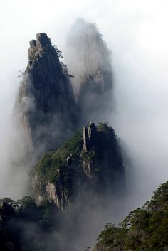 "Huangshan, China: ""No mountains are worth seeing after a trip to the Five Sacred Mountains, and none of the Sacred Mountains are worth seeing after a trip to Huangshan."""