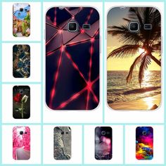 Colorful Printing Soft Silicone TPU Case Cover for Samsung Galaxy J1 Mini J105 Phone Cases Back Cover Phone Bags Capa Skin Funda