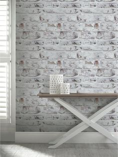 ARTHOUSE Whitewashed Brick Wall Wallpaper, http://www.very.co.uk/arthouse-whitewashed-brick-wall-wallpaper/1600046776.prd