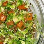 Raw Brussels Sprouts Good Fortune Salad
