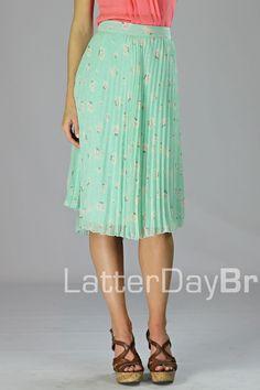 Modest skirt - cute for spring / summer