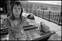 Mary Ellen Mark :: Tiny on a Bench during Streetwise, Seattle, Washington, 1983