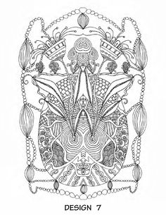 """It's in The Details"" - ""Floral Fantasy"" coloring book by Stewart Feldman - issuu"