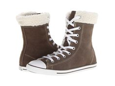 Converse Chuck Taylor® All Star® Dainty Suede/Shearling Hi Morel - Zappos.com Free Shipping BOTH Ways
