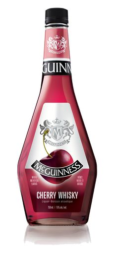 Its sweet cherry flavour blended with whisky makes McGuinness® Cherry Whisky the most popular flavour. The purple-red colour and candied cherry aroma will draw you in! Talk about putting the cherry on top of your favourite cocktail or dessert! Cherry Whiskey, Cherry Brandy, Basson, Cherry Liqueur, Beer Pong Tables, Sweet Wine, Hooch, Italian Wine, Cool Bars