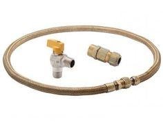 Kit Instalação para gás GN e GLP Electrolux - C/ Registro p/ Fogão, Forno de Embutir e Cooktop