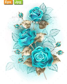 Buy Bouquet of Turquoise Roses by on GraphicRiver. Artistically drawn, turquoise roses with stems and leaves of white gold on white background. Blue Roses Wallpaper, Wallpaper Nature Flowers, Flower Background Wallpaper, Beautiful Flowers Wallpapers, Flower Phone Wallpaper, Beautiful Rose Flowers, Beautiful Nature Wallpaper, Butterfly Wallpaper, Flower Backgrounds