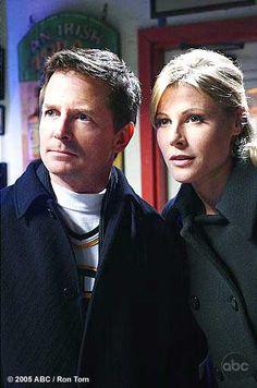 "Michael J. Fox [Daniel Post] and Julie Bowen [Denise Bauer] in ""Breast in Show"""