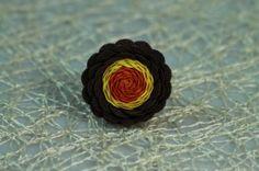 Viacfarebný kvetinkový prsteň Floral, Rings, Flowers, Jewelry, Jewlery, Jewerly, Ring, Schmuck, Jewelry Rings
