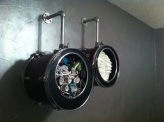 Baby rockstars need a cool place to store their diapers! #storage #rockstar #nursery #pinparty