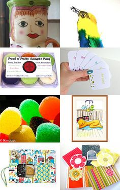 Colorful gifts by Elinor Levin on Etsy--Pinned with TreasuryPin.com