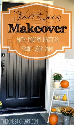 Find out what TheDomesticHeart.com thinks of Master Front Door Paint after her front door makeover...