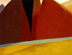 Georgia O'Keeffe - Canyon Country, c. 1965  (Phoenix Art Museum, via Flickr)