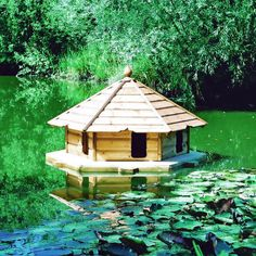duck house | Large Duck Canopy Including Float - Duck Houses
