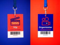 Dwa Brzegi - Film and Art Festival on Behance Id Design, Badge Design, Print Design, Identity Card Design, Branding Design, Logo Design, Lettering, Typography Design, Employees Card