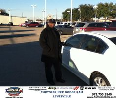 #HappyAnniversary to Kelvin Smith on your new car from Ruben Cantu at Huffines Chrysler Jeep Dodge Ram Lewisville!