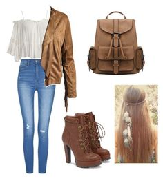 """""""#countryoutfit"""" by kiaraloveh on Polyvore featuring Sans Souci, JustFab and country"""