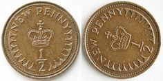 An interesting bit of history - these half pennies came in after decimalisation…