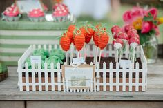 While this isn't the first Peter Rabbit-themed birthday party we've featured, we're totally smitten with this sweet garden setting, clever desserts, and cute Peter Rabbit Party, Peter Rabbit Cake, Peter Rabbit Birthday, Bunny Birthday, First Birthday Parties, Birthday Party Themes, First Birthdays, Girl Parties, 9th Birthday