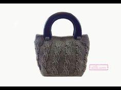Knitting Patterns Bag Crochet Handbag Tutorial with Cable Stitch Crochet Handbags, Crochet Purses, Crochet Bags, Crochet Cable, Filet Crochet, Beautiful Handbags, Beautiful Bags, Handbag Tutorial, Knitted Bags