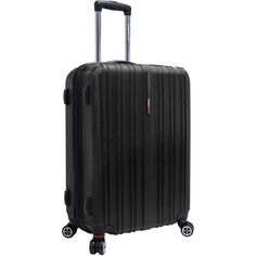 """Traveler's Choice Tasmania 25"""" Expandable Spinner Luggage ($120) ❤ liked on Polyvore featuring bags and luggage"""