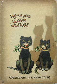 Vintage Christmas or Halloween card?!