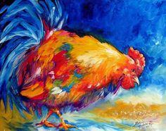 """Rooster Pecking"" par Marcia Baldwin"