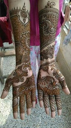 Bridal henna Design                                                                                                                                                     More