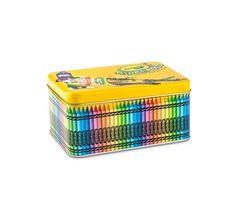Crayola Tipping Crayons Storage Tin Crayola Crafts, Crayola Art, Crayon Storage, Princess Painting, Frizz Free Hair, Stationary Items, Sensory Boards, Waiting Rooms, Polymer Clay Charms