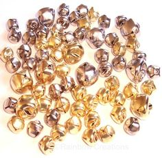 Gold and Silver Craft Bells 10mm 15mm for Christmas Crafting