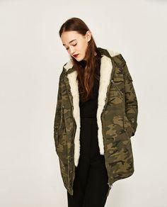 Mode femmes femmes Long Cardigan Camouflage manteau Parka Outerwear