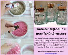 Great idea for a gift and homemade! These jars are only $0.25 (as of 10/22/14) at the Carousel Shop in La Grange, IL