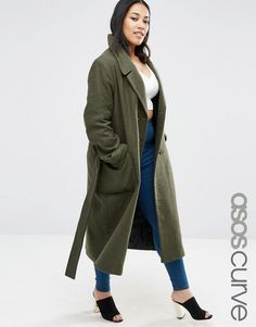 Get this Asos Curve's wool coat now! Click for more details. Worldwide shipping. ASOS CURVE Wool Blend Midi Coat with Tie Belt - Green: Plus size coat by ASOS CURVE, Lined wool-mix fabric, Notch lapels, Button fastening, Belted tie waist, Functional pockets, Regular fit - true to size, Dry clean, 43% Wool, 27% Acrylic, 18% Polyester, 12% Nylon, Our model wears a UK 18/EU 46/US 14 and is 170cm/5'7 tall. Say goodbye to awkward-fitting plus-size fashion with our ASOS CURVE collection. Giving…