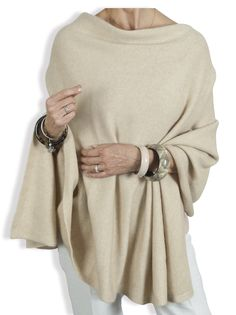 675bb9090 Cashmere Poncho in Oatmeal by Catherine Robinson  www.catherinerobinsoncashmere.com
