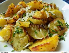 Czech Recipes, Ethnic Recipes, Potato Salad, Food And Drink, Potatoes, Kitchen, Fitness, Cooking, Potato