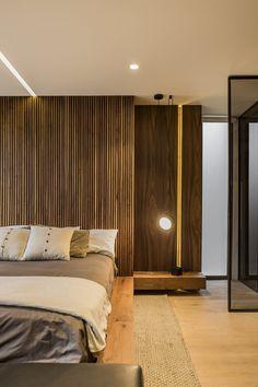 Apartment in Privee, Mexico City / Taller David Dana Closet Works, Concrete Bar, False Ceiling Design, Wood Pieces, Wooden Doors, Mexico City, Accent Decor, Contemporary Design, Interior And Exterior