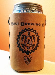 Maui Brewing Company Leather Can Koozie