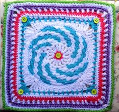 Ravelry.com 2014 BAMCAL May filler square--'Spiraling Into Spring'
