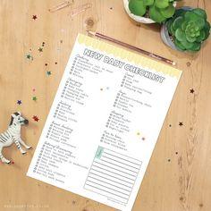 New Baby Checklist Printable Planner Digital File Instant Organiser Print At Home Prep
