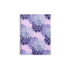 Purple Flowers.jpg Spiral Notebooks