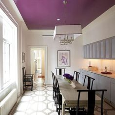Ceiling Paint Ideas Designs For Decorative Ceilings Purple Idea White Walls And Dining Room Interior