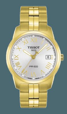 TISSOT PR 100 QUARTZ GENT STEEL True to its name, the Tissot PR 100 is certainly Precise and Robust - and hugely popular with stylish men and women everywhere. These models combine tradition with up-to-the-minute looks using quality materials on the outside and Swiss reliability on the inside. This iconic watch family offers lady and gent sizes to prevent any rivalry. Although, as far as style is concerned, the race is on! #T049.410.33.033.00