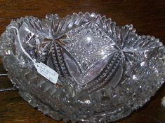 Pressed glass and cut glass - the differences - Star Pattern American Brilliant Bowl Photo courtesy of Treehouse Antiques