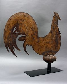 Antique Rooster Weathervane, New York State, 19th century