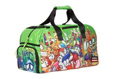 If you were a kid in the you probably fondly remember coming home from school and watching Nickelodeon cartoons like Hey Arnold! and CatDog. And you also probably loved Nick's iconic green slime! This duffel bag will bring back all that nostalgia. My Bags, Purses And Bags, Urban Movies, Cartoon Bag, Nickelodeon Cartoons, Green Purse, Travel Items, Discount Purses, Rugrats