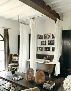Curtain call bathroom