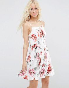 ASOS+Button+Through+Sundress+in+Floral+Print