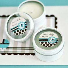 Personalized Round Candle Tins  Blue Baby  Total 96 items ** Read more reviews of the product by visiting the link on the image. (This is an affiliate link)