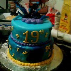 Tie dye music major cake.